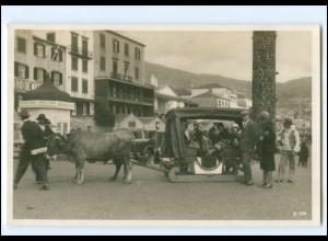 XX11039/ Madeira Bulluc-Car Ochsenschliiten Portugal Foto AK ca.1930