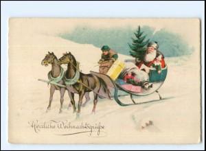 XX11021/ Weihnachten Weihnachtsmann Litho Ak ca.1930