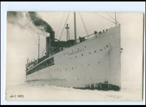 XX11005/ Die Ostsee im Eis 1922 Dampfer Konung Gustav V Foto AK