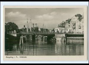 XX10587/ Ostpreußen Königsberg Holzbrücke 1943 Foto AK