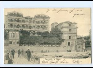 XX10580-185./ Sassnitz auf Rügen Strand mit Strandhotel 1909 AK