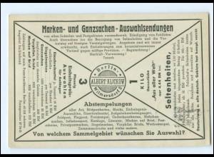 XX14705/ Ganzsache Albert Klickow Berlin Wilmersdorf Philatelie