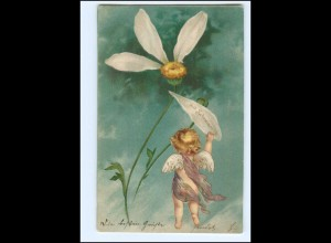 XX10658/ Amor schöne Litho Präge AK 1903