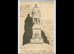 XX10671/ Thorn Kaiser Wilhelm Denkmal Ak 1904 Westpreußen