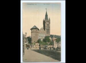 XX10662/ Königsberg Schloß Straßenbahn AK 1906 Ostpreußen