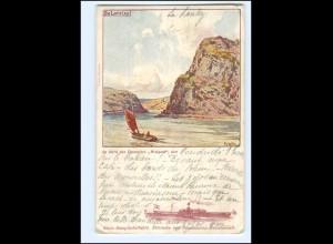 XX10663/ Loreley - Dampfer Walpod Rhein-Dampfschiffahrt AK 1901