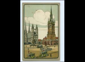 XX10664/ Halle a.S. Marktplatz Litho AK ca.1910