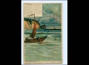 XX10742/ Vineta die versunkene Stadt Halt gegen Licht Luna No.84 Litho AK 1903