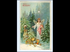 XX10650/ Weihnachten Engel Litho Präge AK ca,1900