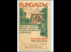 XX11082/ Berlin Deutsche Armee- Marine u. Kolonial Ausstellung 1907 Bungalow