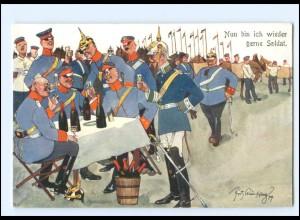 XX11089/ Schönpflug AK Militär Soldaten Offiziere 1909