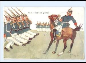 XX11090/ Schönpflug AK Militär Soldaten Offizier zu Pferde 1909