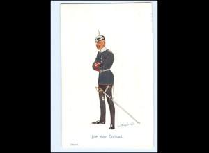 XX11092/ Schönpflug AK Militär Offizier mit Pickelhaube 1913