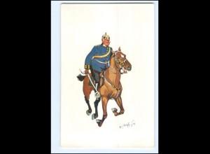 XX11102/ Schönpflug AK Militär, Soldat zu Pferde 1903