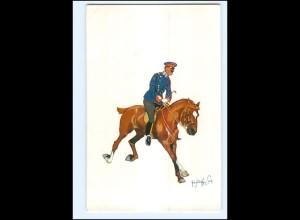 XX11103/ Schönpflug AK Militär, Soldat zu Pferde 1904