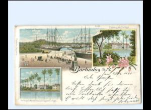 S2419/ Barbados Karibik Litho AK 1900