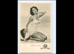 S2460/ Elizabeth Taylor im Badeanzug Foto AK Kunst und Bild ca.1960