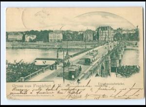 Y17570/ Frankfurt M. Untermainbrücke Pferdebahn AK 1901