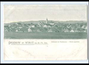 V733/ Pozdrav ze Sedlce Tschechien AK ca.1900