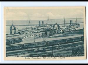 Y17581/ Sassnitz Trajekthafen Fähre Preußen AK ca.1925