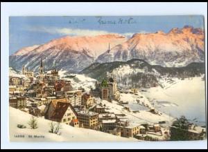 Y17587/ St. MOritz Schweiz AK 1911