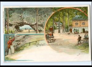 Y17592/Kuhstall - Sächsischen Schweiz Litho AK ca.1900