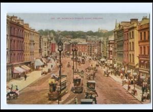 V726/ Cork Patrick Street Tram Straßenbahn Irland AK ca.1912