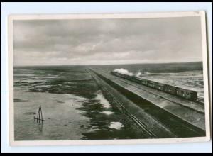 Y17633/ Hindenburgdamm Sylt Eisenbahn AK 1949
