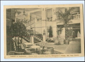 Y17641/ Hamburg Bieber Cafe am Hauptbahnhof AK 1912 St. Georg