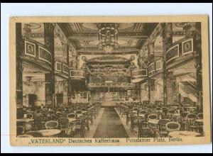 Y17499/ Berlin Vaterland Deutsches Kaffeehaus AK 1922