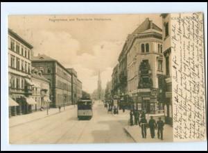 Y17507/ Karlsruhe Techn. Hochschule, Straßenbahn AK 1904