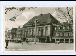 Y17519/ Hamm i. W. Bahnhof Foto AK ca.1935