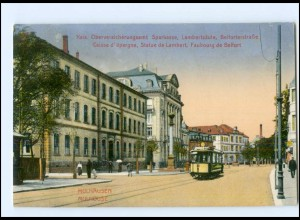 Y17520/ Mühlhausen Elsaß Belforterstr. Straßenbahn AK 1915
