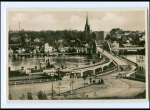 Y17526/ Sonderborg Brücke Foto AK Nordschleswig 1937