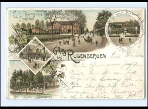 Y17534/ Gruß aus Rugenbergen Litho AK 1899