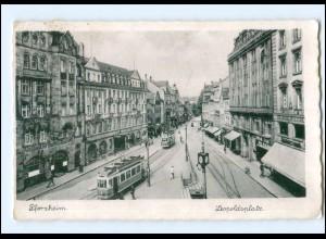 Y17542/ Pforzheim Leopoldsplatz Straßenbahn AK