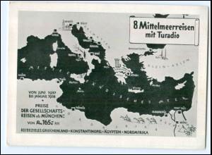 Y17485/ Turadio Reisebüro Berlin AK Mittelmeerreisen 1937/38