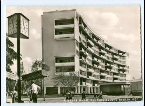 Y17484/ Berlin Intern. Baufach-Ausstellung 1957 AK AEG-Uhr