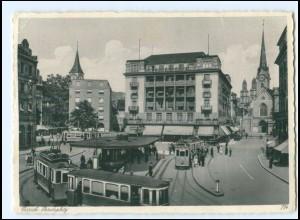 Y17476/ Zürich Paradeplatz Straßenbahn AK 1933