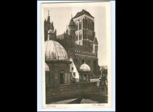 Y17453/ Danzig St. Marien 1935 postal. gelaufen