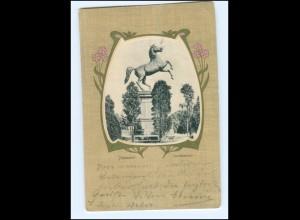 Y17459/ Hannover Sachsenross Jugendstil AK 1902