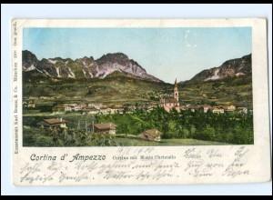 V848/ Cortina d`Ampezzo Italien AK goldene Fenster 1900