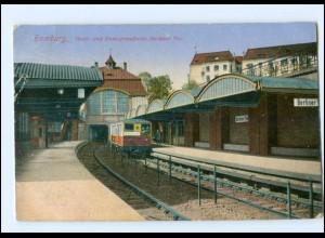 V849/ Hamburg Bahnhof Berliner Tor Hochbahn AK 1918