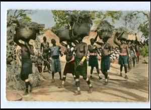 Y17694/ Junge Frauen nackt Afrika AK ca.1955
