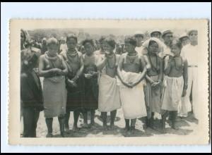 Y18766/ Dalat Vietnam junge Frauen nackt Foto AK 50er Jahre