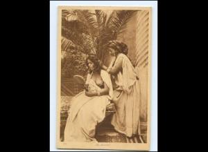 V800/ Lehnert & Landrock junge Frauen nackt Orient AK ca.1920 Erotik Afrika