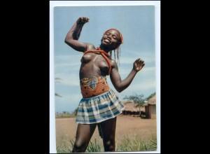V819/ Little Dance junge Frau nackt Afrika 70er AK Erotik