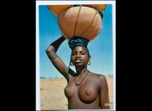 Y17687/ Junge Frau nackt Senegal Afrika AK 1973