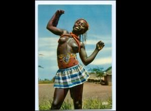 Y17994/ Little dancer junge Frau nackt Afrika AK