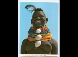 Y17676/ Junge Frau nackt Turkana Kenia Afrika AK ca.1970
